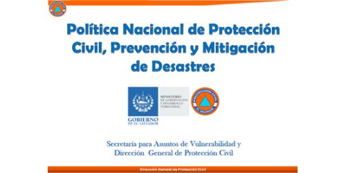 Política Nacional de Protección Civil